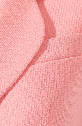 Шерстяной жакет Giorgio Armani розовый | Фото №5