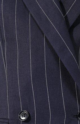 Льняной жакет Loro Piana темно-синий | Фото №5