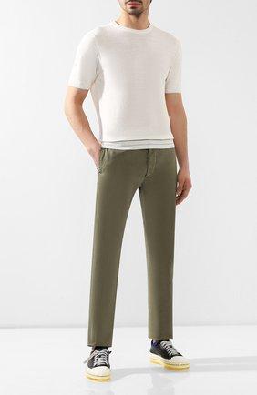 Мужской хлопковые брюки RRL хаки цвета, арт. 782504843 | Фото 2