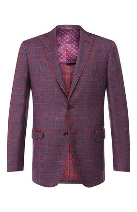 Мужской пиджак из смеси шерсти и шелка ZILLI бордового цвета, арт. MNR-SG2Y-2-56221/0001 | Фото 1