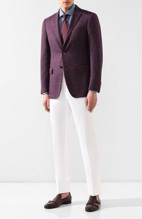 Мужской пиджак из смеси шерсти и шелка ZILLI бордового цвета, арт. MNR-SG2Y-2-56221/0001 | Фото 2