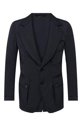 Куртка с отделкой из кожи   Фото №1
