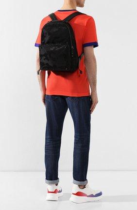 Мужской текстильный рюкзак valentino garavani rockstud  VALENTINO черного цвета, арт. RY2B0340/NAI   Фото 2