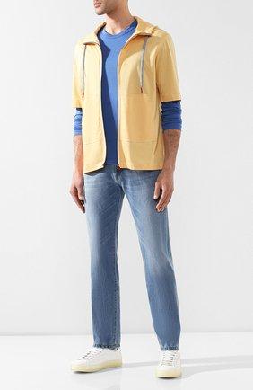 Мужские джинсы ANDREA CAMPAGNA голубого цвета, арт. AC102/T94.W936 | Фото 2