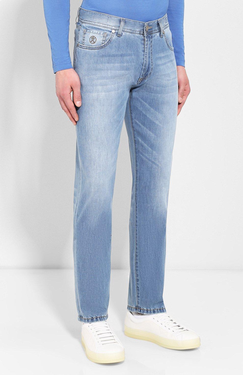 Мужские джинсы ANDREA CAMPAGNA голубого цвета, арт. AC102/T94.W936 | Фото 3
