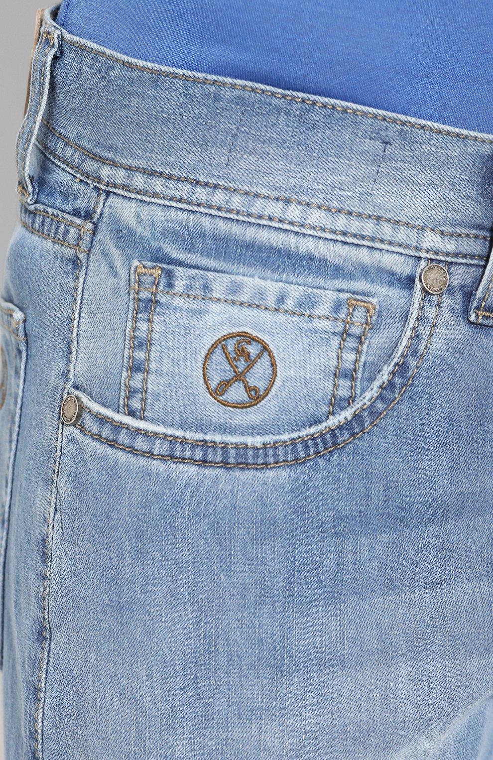 Мужские джинсы ANDREA CAMPAGNA голубого цвета, арт. AC102/T94.W936 | Фото 5