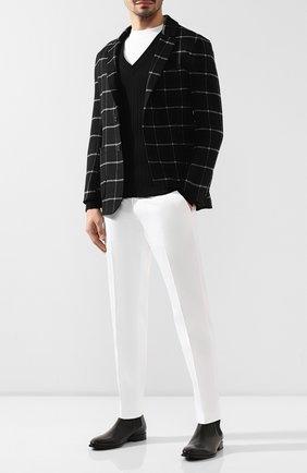 Мужской шерстяной пуловер DOLCE & GABBANA черного цвета, арт. GX443T/JAVKY | Фото 2