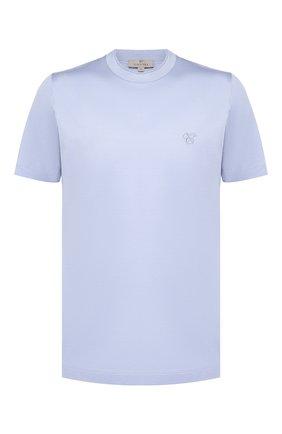 Мужская хлопковая футболка CANALI голубого цвета, арт. T0356/MJ00002   Фото 1