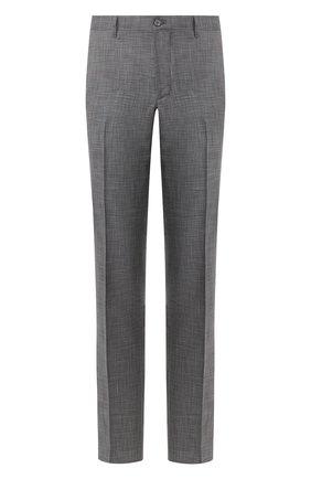 Мужской брюки из смеси шерсти и шелка ZILLI серого цвета, арт. M0R-40-38N-56139/0001 | Фото 1