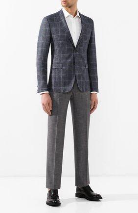 Мужской брюки из смеси шерсти и шелка ZILLI серого цвета, арт. M0R-40-38N-56139/0001 | Фото 2