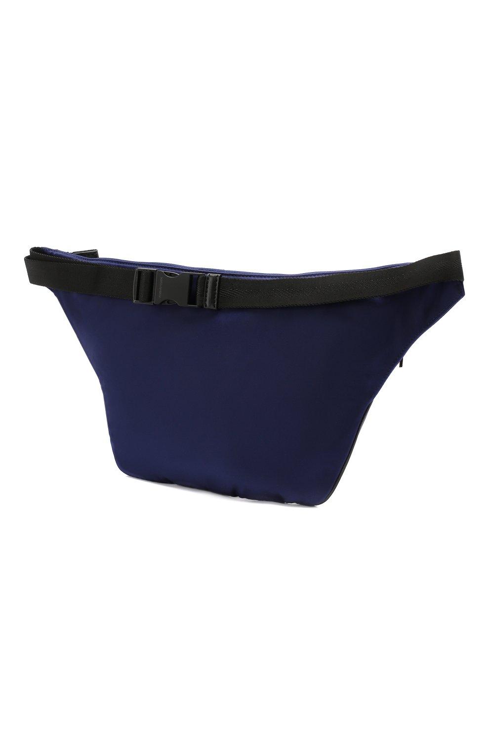 Комбинированная поясная сумка Street Dolce & Gabbana темно-синяя | Фото №3