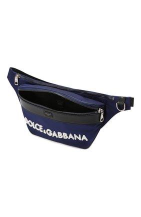 Комбинированная поясная сумка Street Dolce & Gabbana темно-синяя | Фото №4