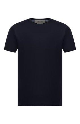 Мужская хлопковая футболка  CORNELIANI темно-синего цвета, арт. 00G500-0025000/00 | Фото 1