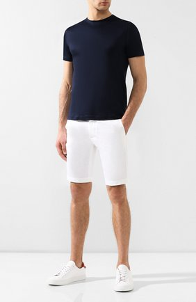 Мужская хлопковая футболка  CORNELIANI темно-синего цвета, арт. 00G500-0025000/00 | Фото 2