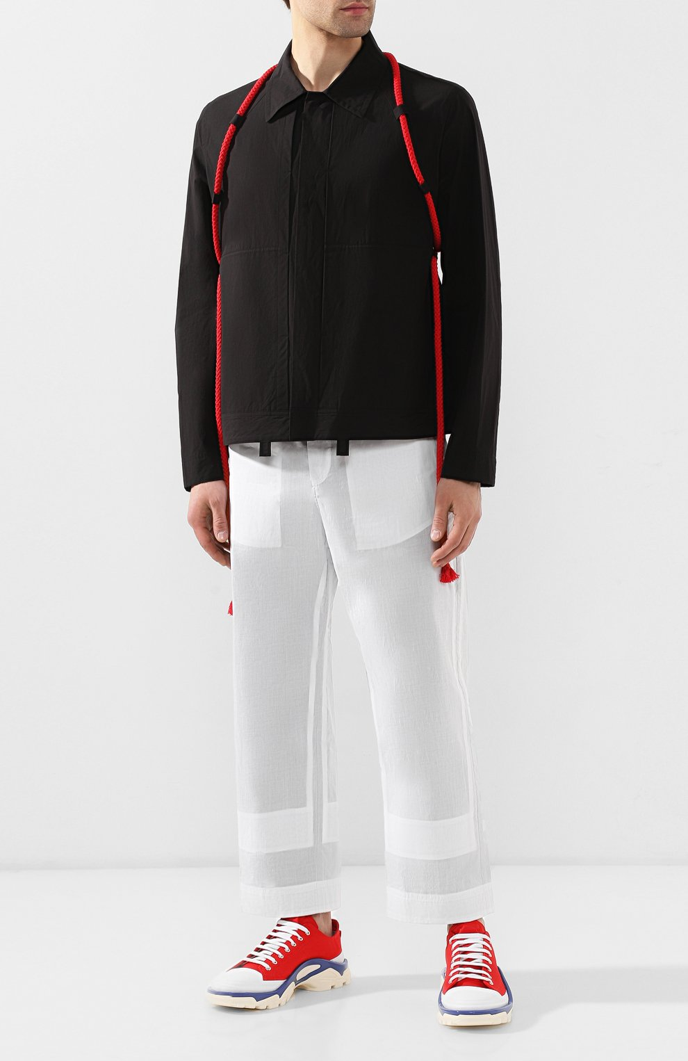 Хлопковые брюки Craig Green белые   Фото №2