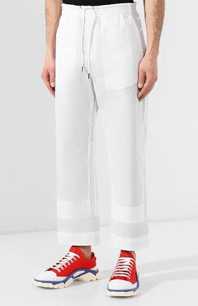 Хлопковые брюки Craig Green белые   Фото №3