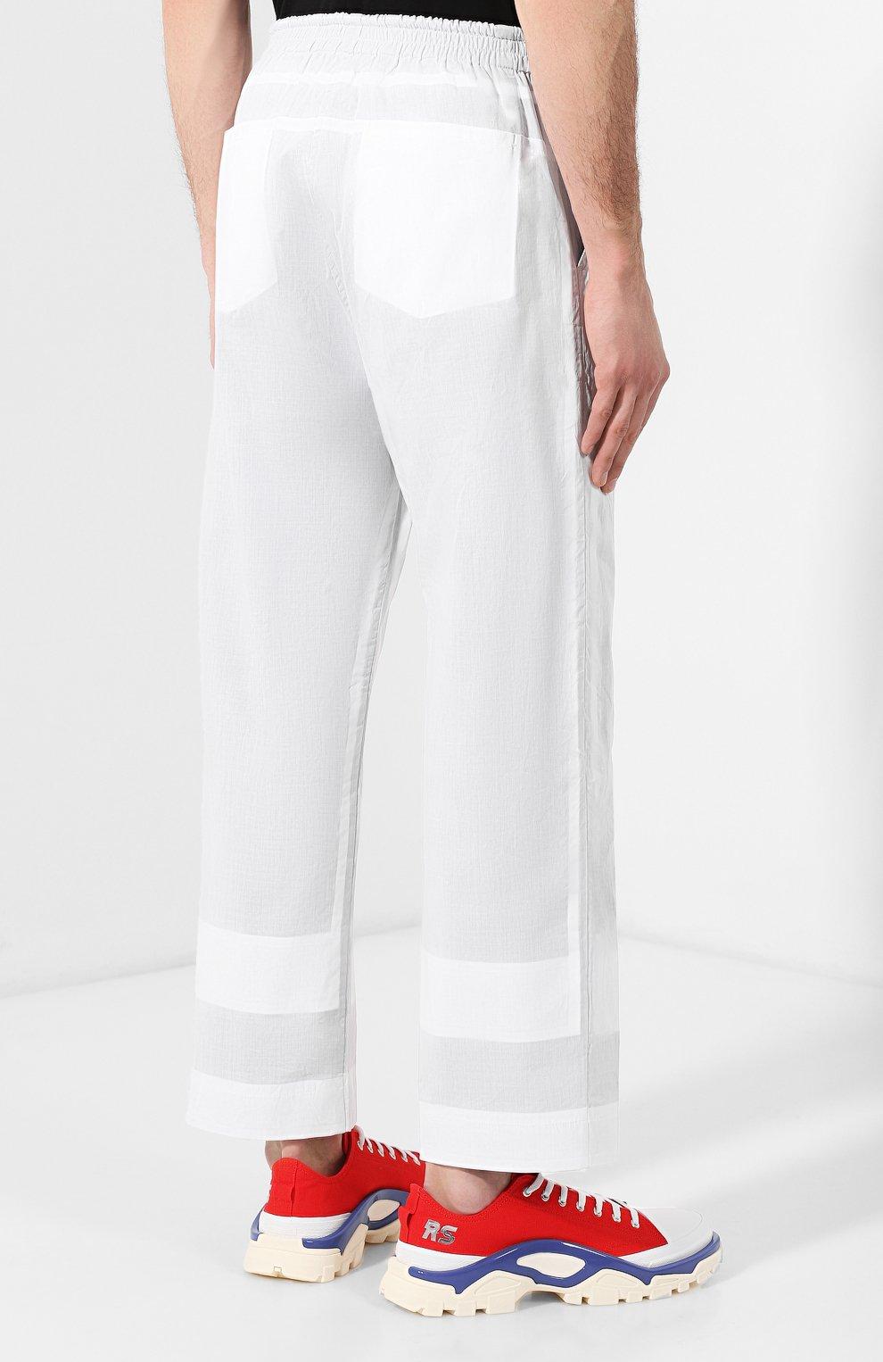 Хлопковые брюки Craig Green белые   Фото №4