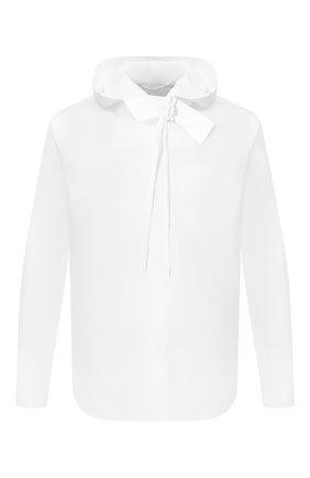 Хлопковая рубашка с капюшоном   Фото №1