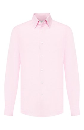 Мужская льняная рубашка BRIONI розового цвета, арт. SCAD0L/PZ114 | Фото 1