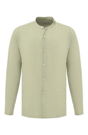 Мужская льняная рубашка  Z ZEGNA хаки цвета, арт. VS220/ZZC15 | Фото 1