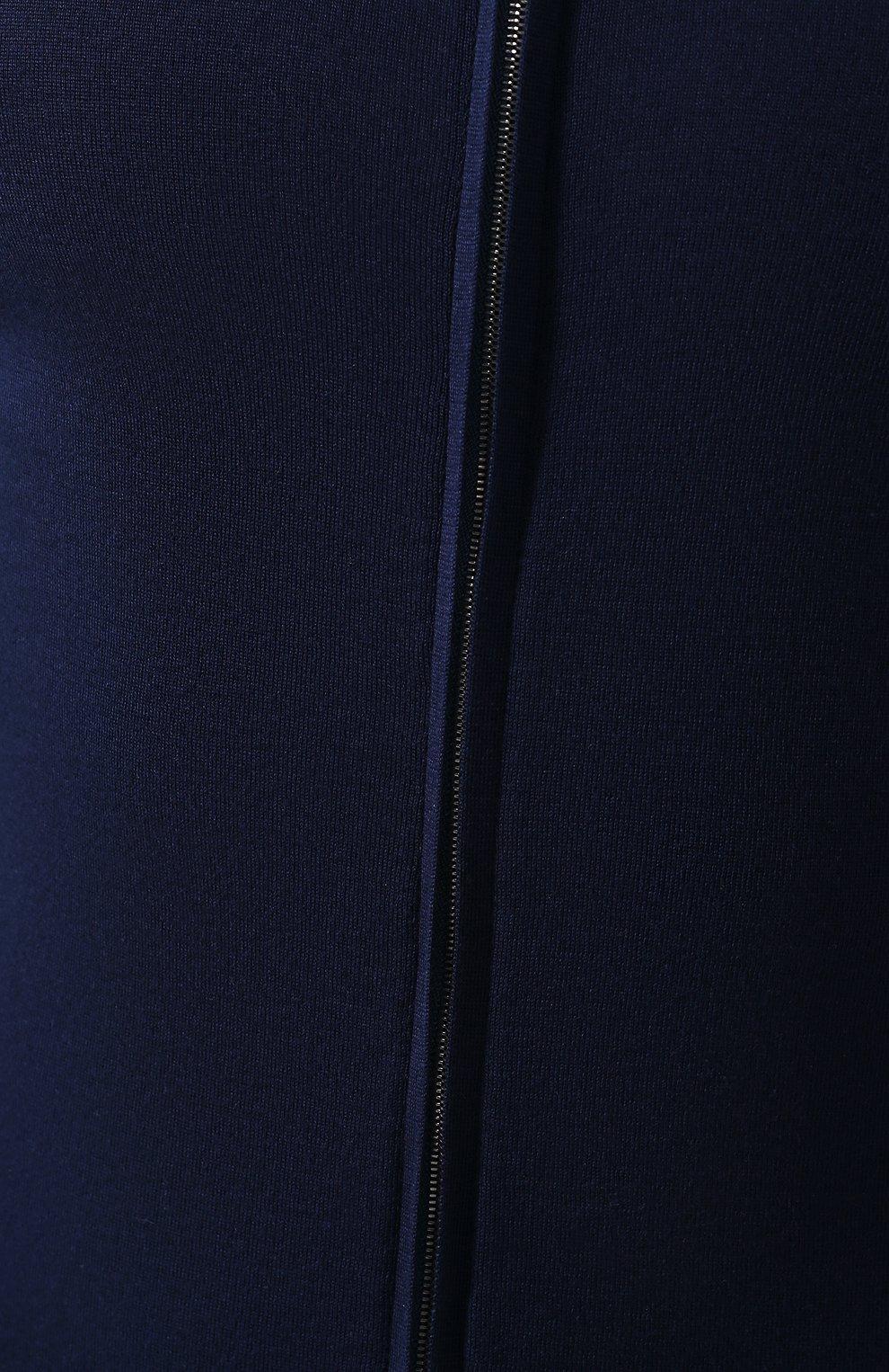 Хлопковый кардиган Svevo темно-синий | Фото №5