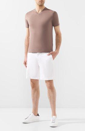 Мужская хлопковая футболка CRUCIANI темно-бежевого цвета, арт. CUJ0SB.V30 | Фото 2