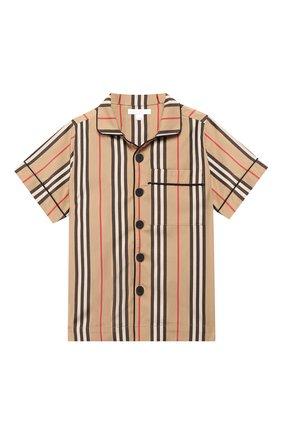 Детская хлопковая рубашка BURBERRY разноцветного цвета, арт. 8009063 | Фото 1