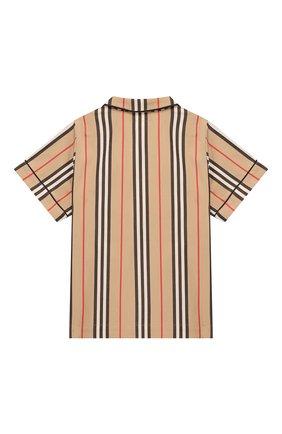 Детская хлопковая рубашка BURBERRY разноцветного цвета, арт. 8009063 | Фото 2