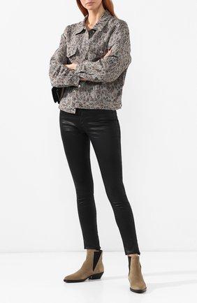 Женские джинсы-скинни AG черного цвета, арт. LSS1777/LTTSBA | Фото 2