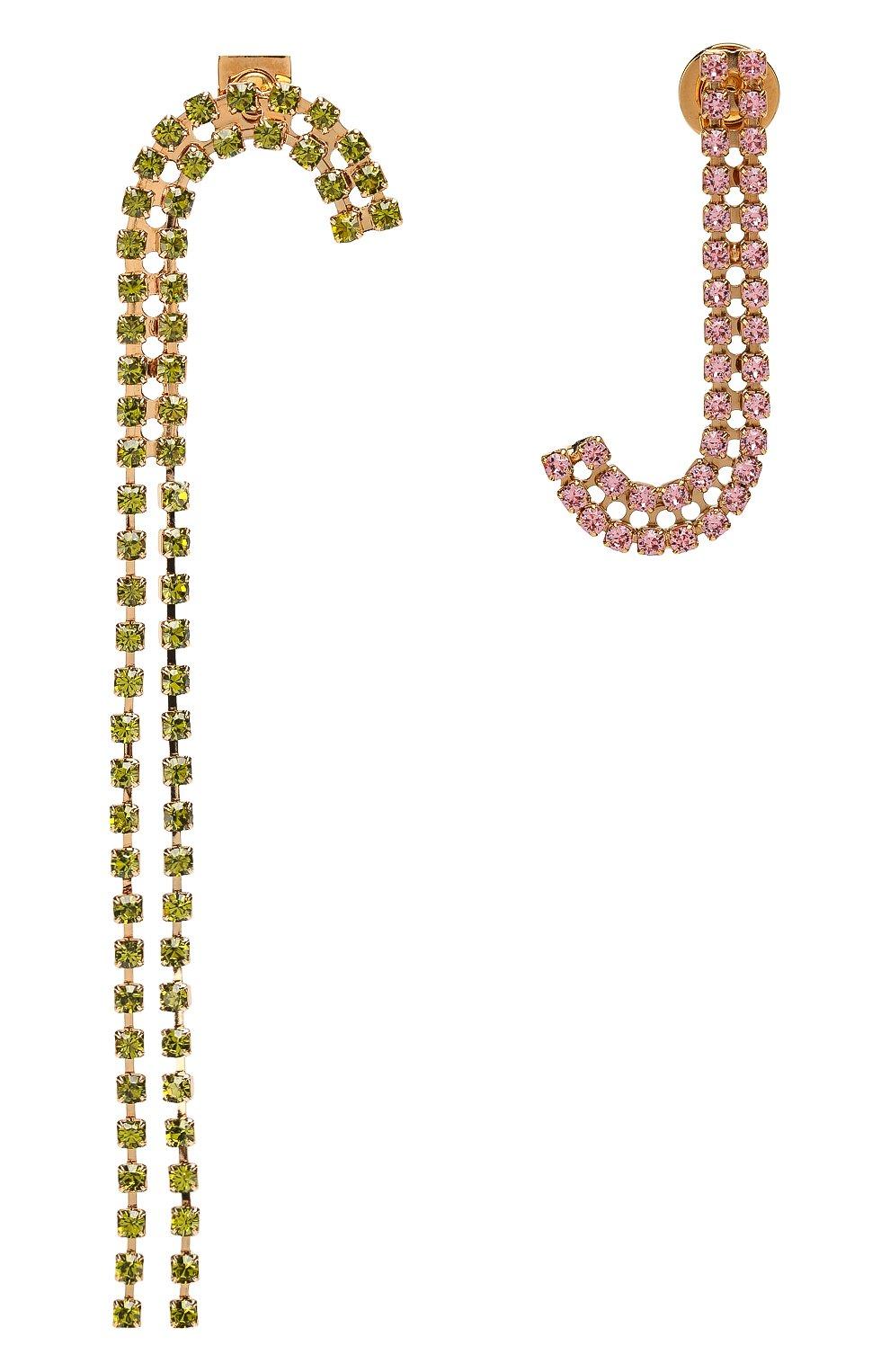 Женские асимметричные серьги rocca JACQUEMUS зеленого цвета, арт. 191JW05 | Фото 1