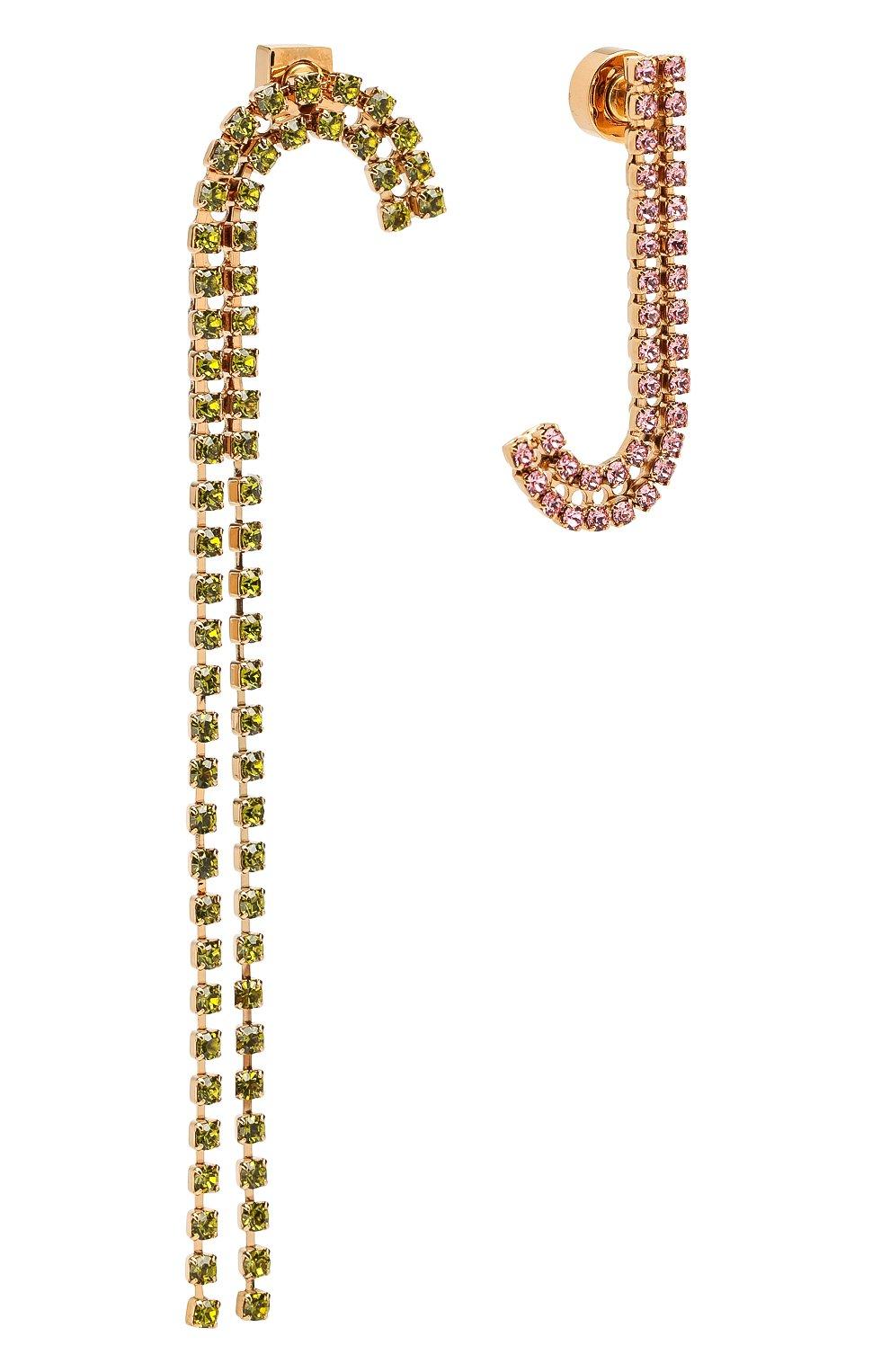 Женские асимметричные серьги rocca JACQUEMUS зеленого цвета, арт. 191JW05 | Фото 3