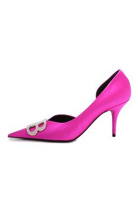 Текстильные туфли BB Balenciaga фуксия | Фото №3
