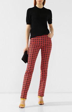 Хлопковые брюки Versace красные | Фото №2