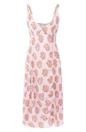 Платье с принтом Acne Studios розовое | Фото №1