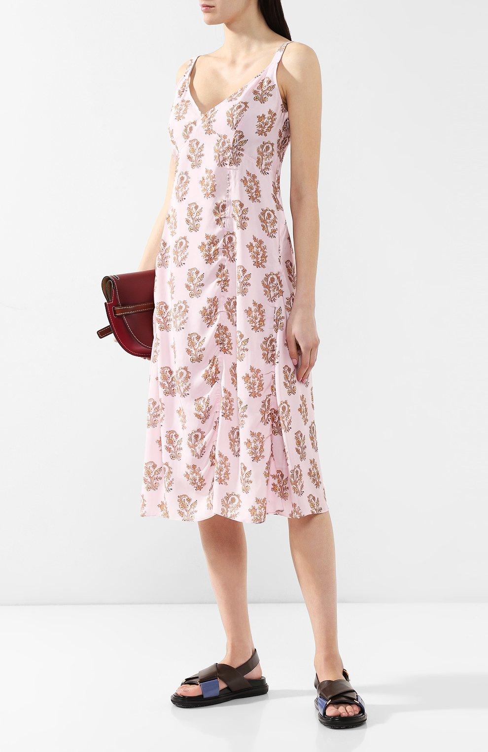 Платье с принтом Acne Studios розовое | Фото №2