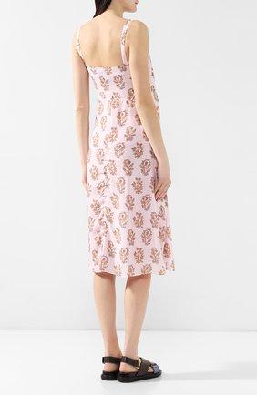 Платье с принтом Acne Studios розовое | Фото №4