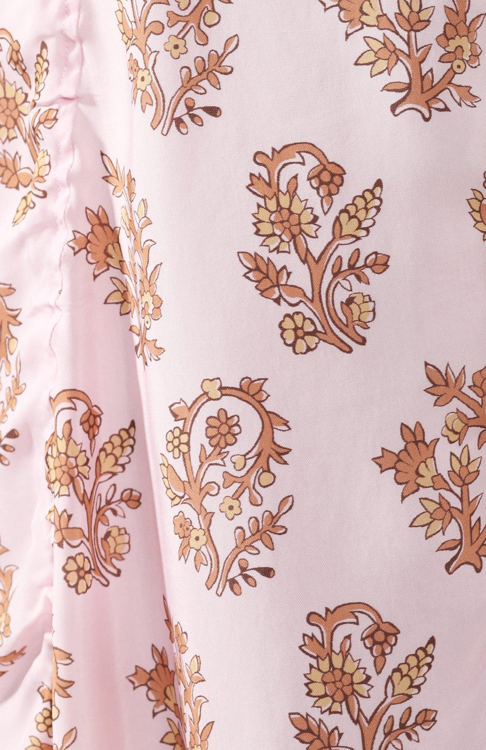 Платье с принтом Acne Studios розовое | Фото №5