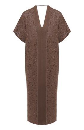 Платье из смеси льна и шелка   Фото №1