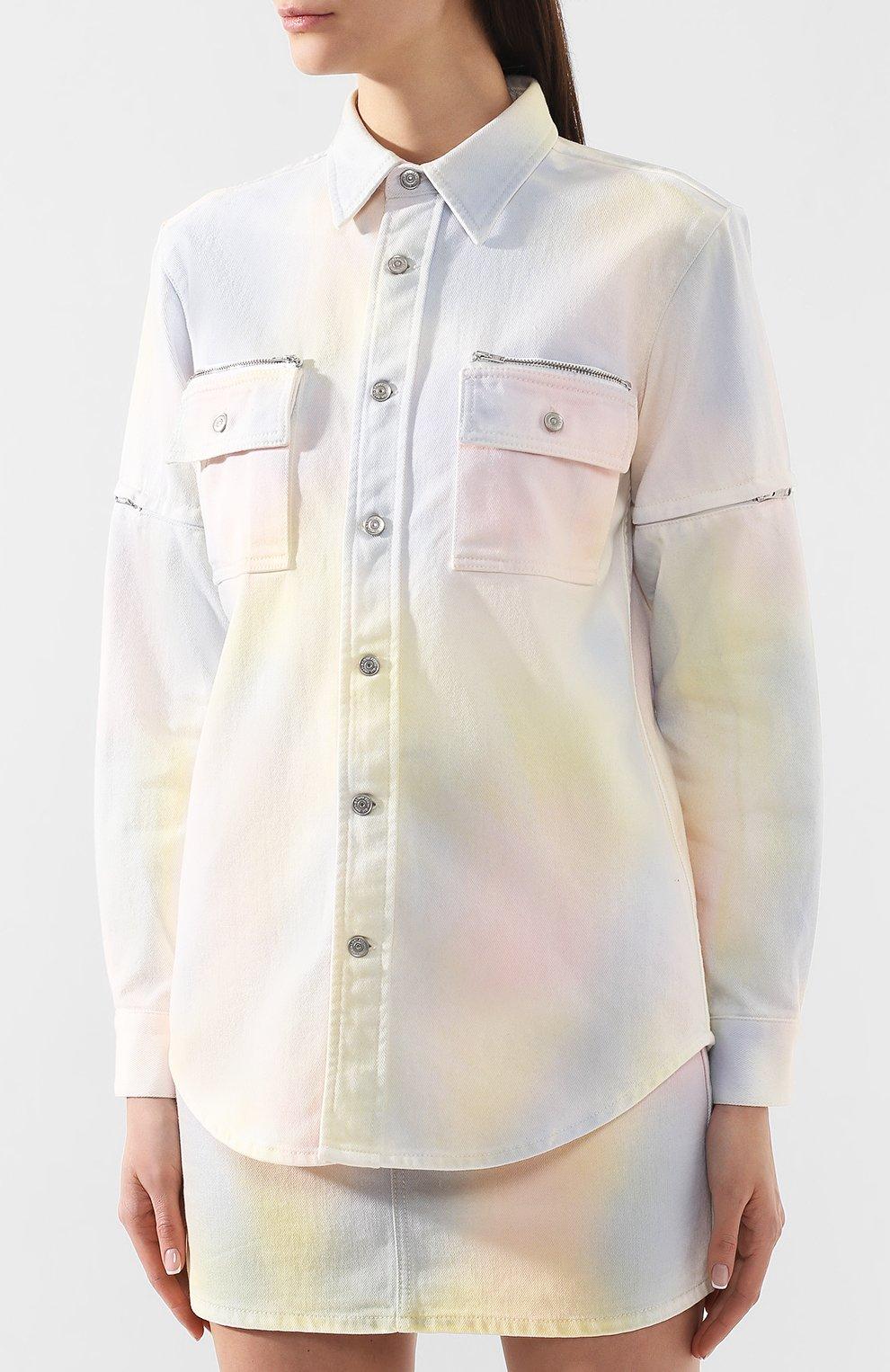 Джинсовая куртка Ganni разноцветная | Фото №3