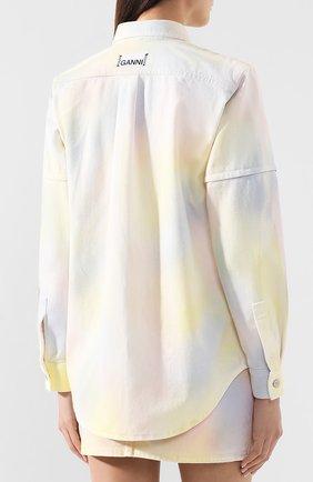 Джинсовая куртка Ganni разноцветная | Фото №4