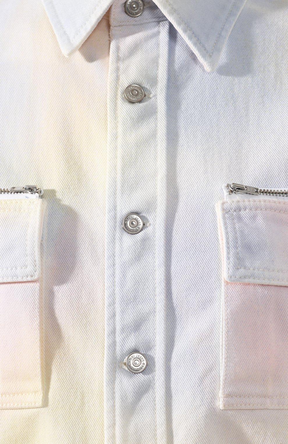 Джинсовая куртка Ganni разноцветная | Фото №5