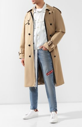 Комплект из плаща и куртки Maison Margiela бежевого цвета | Фото №2