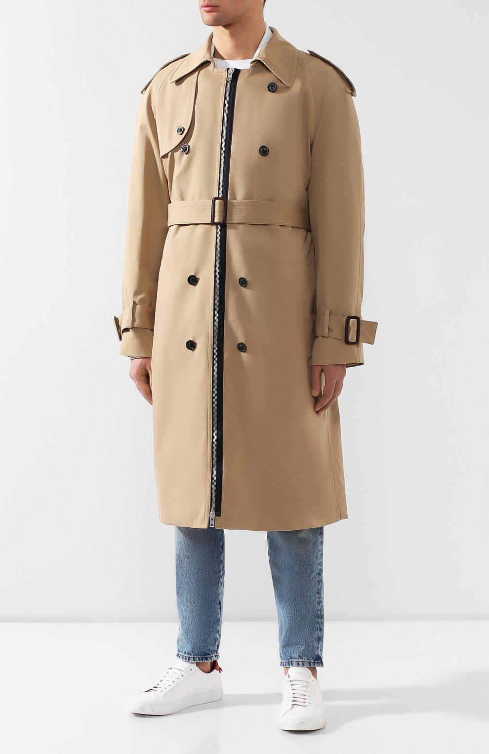 Комплект из плаща и куртки Maison Margiela бежевого цвета | Фото №3