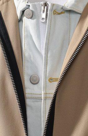 Комплект из плаща и куртки Maison Margiela бежевого цвета | Фото №5