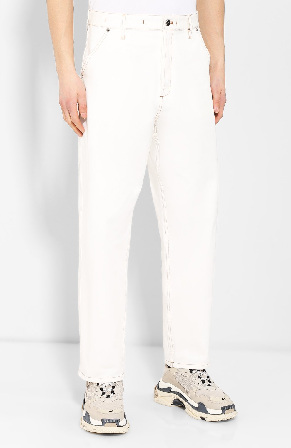 Джинсы Jacquemus белые | Фото №3