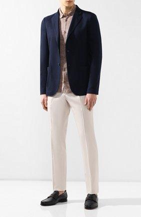 Мужская льняная рубашка ANDREA CAMPAGNA светло-коричневого цвета, арт. 57103/24806 | Фото 2
