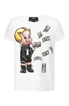 Мужская хлопковая футболка DOM REBEL белого цвета, арт. BALLER/T-SHIRT | Фото 1