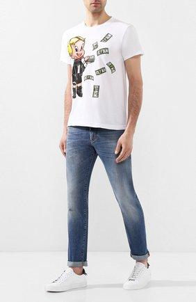 Мужская хлопковая футболка DOM REBEL белого цвета, арт. BALLER/T-SHIRT | Фото 2