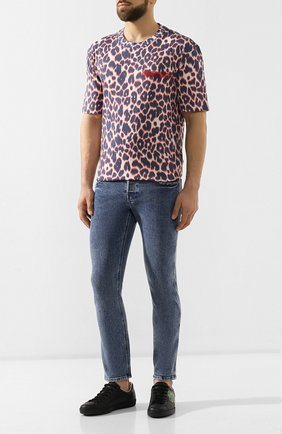 Мужские джинсы GUCCI голубого цвета, арт. 408637/XDALC | Фото 2