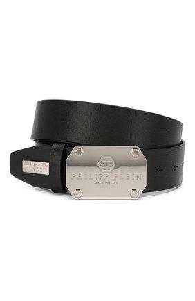 Мужской кожаный ремень PHILIPP PLEIN черного цвета, арт. P19A MVA0412 PLE004N | Фото 1